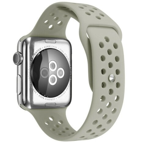 Curea iUni compatibila cu Apple Watch 1/2/3/4/5/6, 42mm, Silicon Sport, Grey